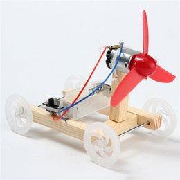 Wholesale Wind Car Toy - Wholesale- DIY Single-wing Wind Car Assembly Model Kit Developmental Toys Science Experiment Educational Toys Gift For Children