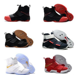 Wholesale Top Shoes For Baby - Top quality james 10 Soldiers X Basketball Shoes for Cheap Sale Sports Training Sneakers Baby, Kids & Maternity