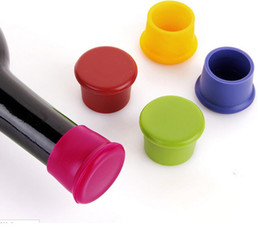Wholesale Silicone Bottle Stoppers Wine - New Silicone Liquor Spirit Red Wine Bottle Stopper Champagne Bottle Storage Plug Cap Barware Accessories Tool