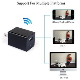 Wholesale Adapter Spy - New Mini 720P WIFI HD SPY Power Adapter DVR Hidden Wall Charger Camera AC Plug Video Recorder Nanny Cam For Home & Office Security