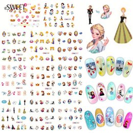 Wholesale Princesses Nail Stickers - 11 Designs In 1 Cartoon Styles Nail Art Princess Water Transfer Stickers Nail Decals Beauty Nail Art Decorations BLE1973-1983