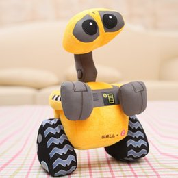 Wholesale Robots Games - New wholesale 27cm 100% Original Wall-E Walle Minion Robot Plush toys WALL.E Stuffed Doll Children Christmas Birthday Christmas Gift