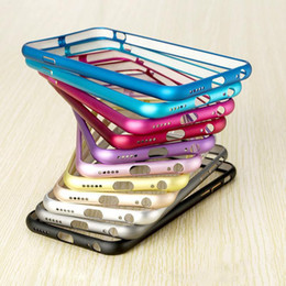 Wholesale Aluminium Bumper For Iphone 4s - 2016 Luxury Metal Bumper Frame Ultrathin Aluminium Mteal Alloy Arc Protector Case Cover For iphone 6 6S plus 5 5S 4 4S