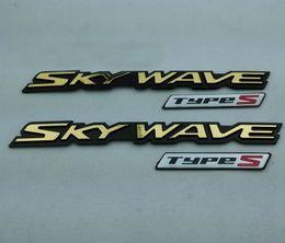 Wholesale Decal Suzuki - Styling SKYWAVE Left and Right Side Badge Emblem Silver Gold TYPES Decal Sticker for Suzuki SKYWAVE250 400 650