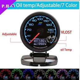 Wholesale Gauges Exhaust - 62mm Greddy Auto Gauge Boost Oil Pressure Oil Temp Vacuum Water Temp Volt Tachometer Exhaust Temp Air Fuel Ratio 7 color have stored