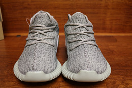 Wholesale Good Grey - DHL free With Double Box 2016 Correct Version Moonrock 350 Shoes nipples Boost ,Wide Bottom Good Shape Shoes size 36-47