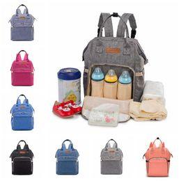 Wholesale Diaper Bags Fashion Handbags - 7 Colors Mommy Diaper Bags Nappies Maternity Backpacks Brand Fashion Desinger Handbags Outdoor Mother Backpack Nursing Bag CCA6916 20pcs