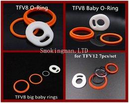 Wholesale Rubber Ring Seals - SMOK TFV8 Silicone O-ring seals TFV8 Big baby ring tfv12 O Sealing Rings rubber ring Replacement Top Sealing Ring O Rings 3pcs set