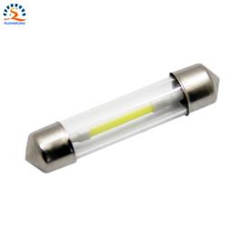 Wholesale Super White 41mm - Wholesale- Festoon LED Filament Car Bulb T10 31mm 36mm 39mm 41mm 12V 6V DC Super Bright