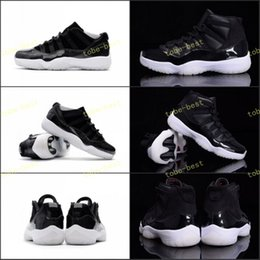 Wholesale Snow White Top - 2017 High Top Quality Retro 11 72-10 Low Basketball Shoes Men Women XI 11s 72-10 Black White Red Sports Sneakers New Arrived US 5.5-13