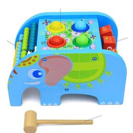 2019 abacus de juguete Elefantes de madera golpean el juguete del rompecabezas de la solapa del ábaco multifuncional (pintura a base de agua respetuosa del medio ambiente) juguetes de madera abacus de juguete baratos