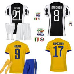 Wholesale Old Socks - kit+socks, 2017-year-old HIGUAIN POGBA football shirt 2017 2018 CUADRADO DYBALA MARCHISIO BONUCCI MANDZUKIC CHIELLINI MARCHISIO footb