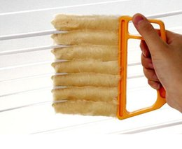 Wholesale Microfibre Window Cleaner - Microfibre Venetian Blind Brush Window Air Conditioner Duster Clean Cleaner Cleaning Brushes Removable Simple And Quick Hot Sell 5 45mr J1 R
