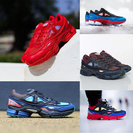 Wholesale Lace Shoe Accessory - 10 colors Top quality with box Shoes & Accessories men shoes women Raf Simons Ozweego x Consortium Casual Shoes Fashion Sneakers 36-45