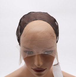 Wholesale French Weaving - DIY Wig Making Caps French Best Kind of Lace Front Wig Weaving Medium Brown Cap with adjustable Strap for Making Wigs