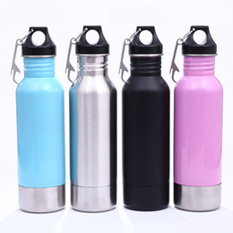 Wholesale Stainless Steel Bottle Openers - 6 Colors 12oz Stainless Steel Beer Bottle Keeper Armour Koozie Keeper Keep Cold with Bottle Opener Beer Cup