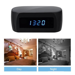 Wholesale Wireless Spy Cameras Monitor - 1920*1080P Wireless Wifi Spy Clock Camera with Night Vision P2P IP Camera Hidden Cam Home Security Surveillance Camcorder Baby Monitor