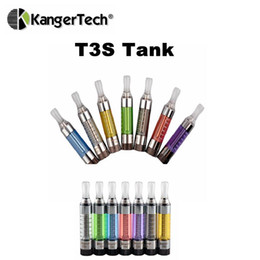 Wholesale Ego Pen Tank - Authentic Kanger T3S BCC Atomizer 3ml Bottom Coil Vaporizer Tank eGo 510 Thread Kangertech Cartomizer Vs Bud Touch O Pen Vapor Atomizers