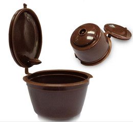 Wholesale Capsule Wholesaler - 5pcs Lot Reusable Dolce Gusto Coffee Capsule,Plastic Refillable Compatible Dolce Gusto Coffee Filter Baskets Capsules