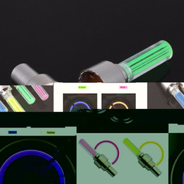 Wholesale Pair Outdoor Lights - Wholesale- 1 pair Outdoor Bicycle Bike LED Neon Tire Wheel Gas Nozzle Valve Core Glow Stick Light For Driving Bicycle Accessories packing