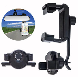 Wholesale Universal Auto Sun Visor - Auto lock Sun visor Mobile phone Car Vent Clip Mounts Car Rearview Mirror CD Player Holders Stands For Galaxy S8 S8 Plus s7 edge note 5
