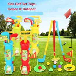 Jouets de fitness pour bébé en Ligne-Kids Golf Play Set Toddler Baby Jouet En Plastique En Plein Air Golfball Fitness Compétitif Interactif Sports Jouets z084