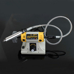 Wholesale Buffing Machines - Mini Bench Grinder Buffing Polishing Machine Lathe Machine Electric Polisher   Drill   Saw Tool 220V 700W 30000 R Min