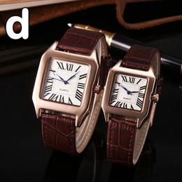 Wholesale Men Gif - luxury brand couple men women watches Fashion Leahter strap quartz watch for lovers mens ladies best gif dress wristwatches Wtach relogios
