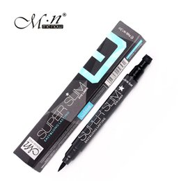 Wholesale Cool Stamps - Wholesale- Menow sparkle cool black liquid eyeliner pencil waterproof E15003 quick dry eye liner pen with star stamp long lasting MN025