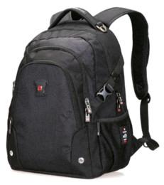 Wholesale School Bag Carrier - swisswin 2016 Black backpack carrier brand 12 -15 inch laptop case waterproof school bag mochila teenage boy sac a dos+Free gift