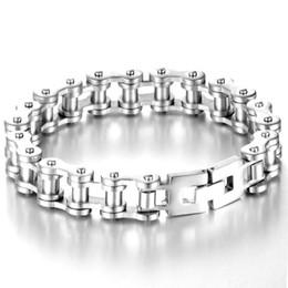 Wholesale Product Width - Fashion Single Product Chain Style Steel Bracelet Silver For Choosing 21.5mm Length 13mm Width Bracelet For Men Women Gifts