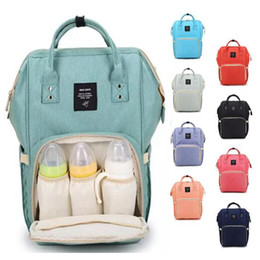 Wholesale Mummy Changing Bags - 14 Colors New Multifunctional Baby Diaper Backpack Mommy Changing Bag Mummy Backpack Nappy Mother Maternity Backpacks CCA6787 10pcs