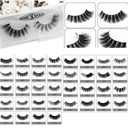 Wholesale 3d Hair - Hot 3D Mink Hair 3D Mink Eyelashes Hair Fur Eyelashes Messy Eye lash Extension Sexy Eyelash Full Strip Eye Lashes DHL