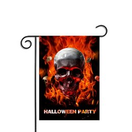 Wholesale Flag Human - Halloween Flags Human skeleton Polyester Banner Home Decor Ornament Garden Party Outdoor Decorative Decoration Hanging Flag Prop Supplies