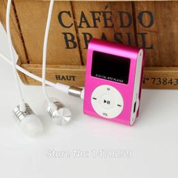 Argentina Al por mayor- 2015 Nuevo mini reproductor de MP3 Pantalla LCD Metal Mini USB Clip Reproductores de música MP3 Con Micro TF / ranura para tarjeta SD supplier 1gb usb mp3 player Suministro