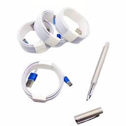 Kostenlos apfel usb-kabel online-Weiß Drop Shipping DHL Freies 3 Mt 10FT 2 Mt 6FT 1 Mt 3FT Micro USB Metall Kopf Geflochtene Daten Ladegerät Kabel Ladekabel Farbwechsel