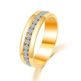 Wholesale Gold Promise Rings For Couples - Wedding Rings for Women Men Couple Promise Band Stainless Steel Anniversary Engagement Jewelry Alliance Bijoux