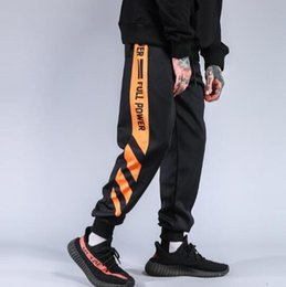 Wholesale mens striped trousers - supreman Striped Patchwork Harem Pants Mens Hip Hop Printed Color Block Casual Joggers Sweatpants Trousers Male Streetwear