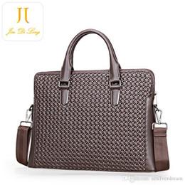 Wholesale Media Magazines - WholeTide Men Bag Pop Denuine Leather Men Briefcase Fashion Laptop Ipad Magazine Stuff Bag Cross Body Factory Price