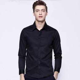 Camicia personalizzata online-abiti da uomo su misura camicia da uomo manica lunga sposo smoking camicia semplice moda formale abiti da lavoro camicia