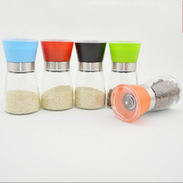 Wholesale Pepper Core - Manual Glass Grinder Mill Anti Wear Ceramic Core Seasoning Bottle Transparent Safe Kitchen Gadgets For Pepper Top Quality 4br B