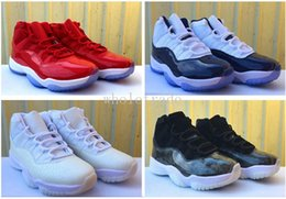 e3b0c6e35c4b Free Shipping 11 Gym Red Frost White Barons Midnight Navy Bred Space Jams Basketball  Shoes Mens Womens 11s Sneakers Come With Box