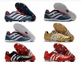 Wholesale Indoor Outdoor Turf - 2018 mens soccer cleats Predator Precision TF IC turf football boots Predator Mania Champagne FG indoor soccer shoes high quality cheap Hot