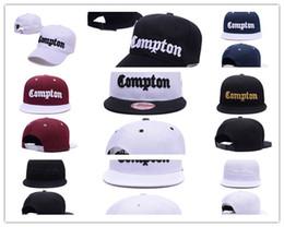cappelli compton Sconti Nuovo arrivo nero SSUR Snapback Cap Compton cappelli hip pop mens donne classici cappucci a scatto regolabili economici, cappello di strada di alta qualità