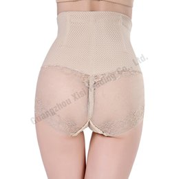Wholesale Support Panties - Wholesale- Women's Butt Lift Underpants Plastic Boning Hot Shapers Ass Enhancer Knickers With Thermal Belly Back Support Lace Mesh Dress