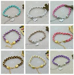love couple bracelet Promotion Meilleur cadeau Nouveau couple tressé bracelet rétro velours cuir bijoux amour bracelet Harajuku FB559 ordre de mélange 20 pièces beaucoup Lien, chaîne