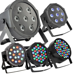 Ha condotto la luce par 54 online-RGBW 54 * 3W LED Par Light Stage DMX 512 ha condotto la luce della fase 8 Canali Flat Led Par Can Stage Lighting Proiettore discoteca