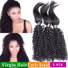 Wholesale Hair Extension Braid Wholesale - XBL Malaysian 100 Human Hair Bundles Curly Braid In Bundles Human Hair Extensions Body Wave,Straight Hair Weave