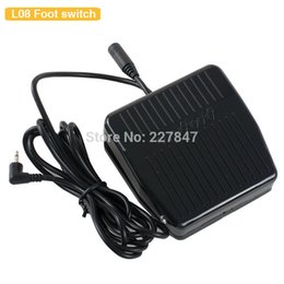 Wholesale Plastic Foot Pedal - Wholesale-CHUSE L08 Plastic Antiskid Tattoo Machine Foot Switch Power Supply Foot Pedal Controller For Permanent Makeup Machine Gun Kit