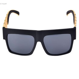 Wholesale Oversized Chain - Wholesale-Hot 2016 New design Metal Gold Chain Twisted Fashion Sunglasses Female Oversized Big Frame Women Men Vintage Sunglasses